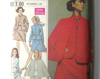 "Vintage Sewing Pattern 1960's Ladies' Dress and Jacket 38"" Bust Simplicity 8037 - With FREE Pattern Grading E-book"