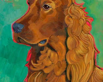 Irish Setter No. 1 - magnets, coasters and art prints