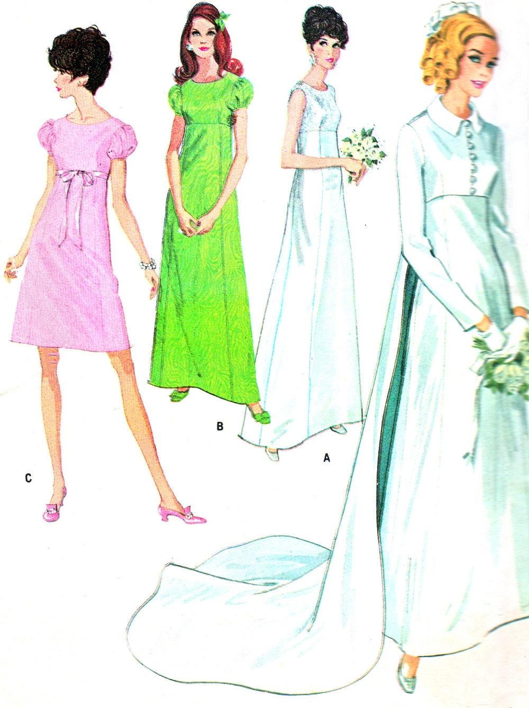 1960s wedding dress pattern mccalls 9227 by neenerbeenerknits for Wedding dress patterns mccalls