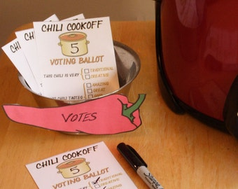 Chili Cookoff Voting Ballot Printab les and Spreadsheet ...