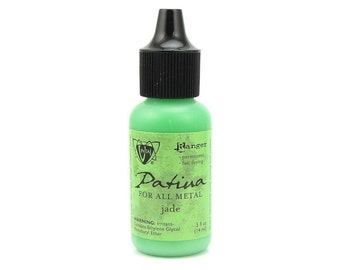 JADE Vintaj Patina Paint - Bright Green Patina For All Metals - by Vintaj and Ranger Ink - Metal Paint