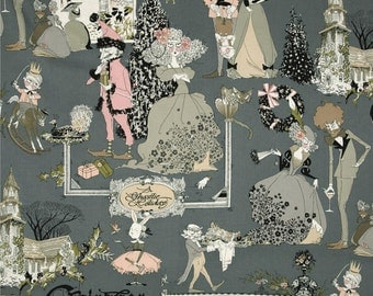 Ghastly Holiday Smoke Grey Alexander Henry Fabric 1 yard