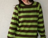 Vintage 90s Grunge Striped Sweater - Womens Size Large