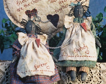 Cloth Doll E-Pattern - Primitive Friendship Doll epattern