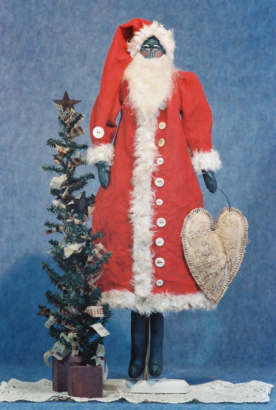 Cloth Doll E-Pattern - 24in Primitive Santa Epattern