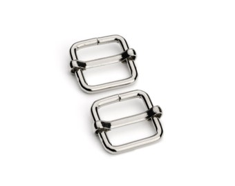 "10pcs - 5/8"" Adjustable Slide Buckle - Nickel - Free Shipping (SLIDE BUCKLE SBK-108)"