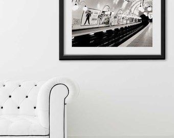 "Paris Print, ""Cite Metro"" Extra Large Wall Art, Paris Photography Art Print, Oversized Art, Fine Art Photography Paris Decor"