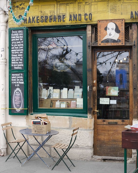 "Paris Photography, ""Shakespeare and Co"" Paris Print Extra Large Wall Art Prints, Paris Wall Decor, Literary Gift for English Major"