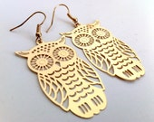 Golden Owl Earrings