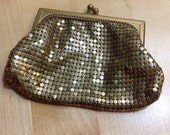 Whiting and Davis Vintage Brass Change Purse