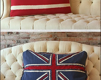 Patriotic Pillows Digital Sewing Pattern Pdf Usa And Union Jack Pillow For Home Decor Or