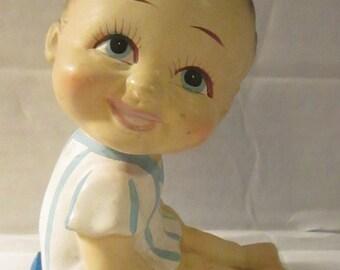 Vintage Kitschy Little Kid Figurine Made in Japan