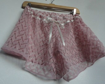 Lace Boxer Shorts Lace Bloomers Lace Knickers Valentines Lingerie Knickers Bloomers Boxers Shorts Bridal Honeymoon Budoir Romantic Lace