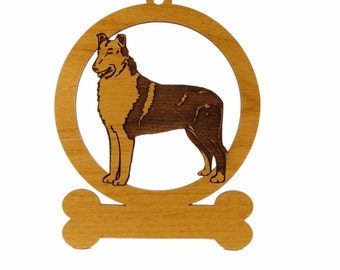 Collie Smooth Ornament 082185 Personalized With Your Dog's Name