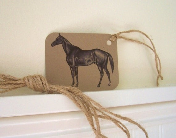 Horse Tags Set of 9