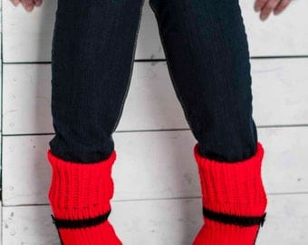 Knit Slipper Sock Adult Mary Jane Slippers Sox Red House Slippers Womens Slippers Home Slippers Black House Shoes Home Shoes