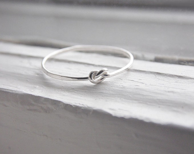 Thin Knot Ring Sterling Silver