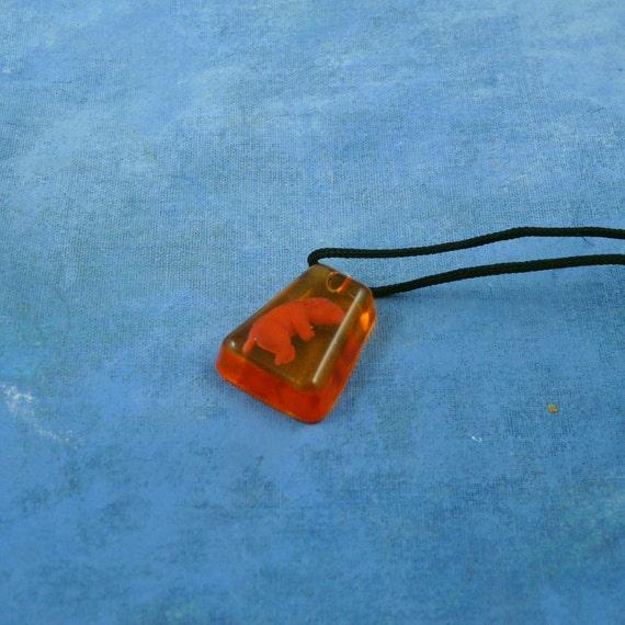 Encapsulated Fetal Pig Specimen Necklace, Handmade Biology Jewelry