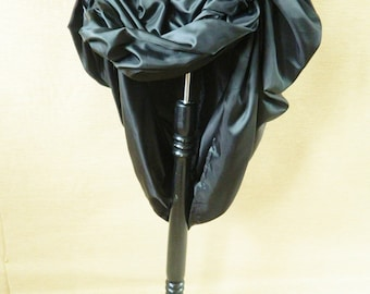 Plain Black Bustle Skirt-One Size Fits All