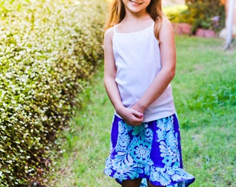 Hi Low Ruffle Skirt Pattern sized 3-16