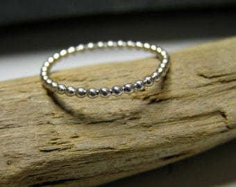 sterling silver granulated ring.