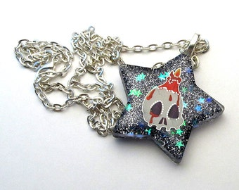 SALE - Skulls Alight Halloween Necklace