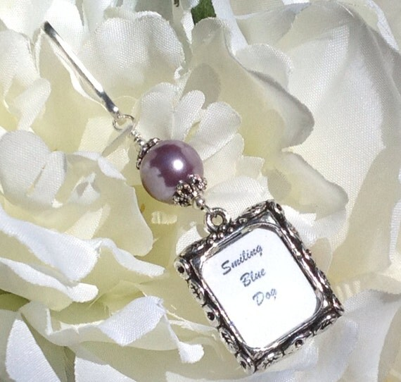 wedding bouquet photo charm light purple pearl memorial charm