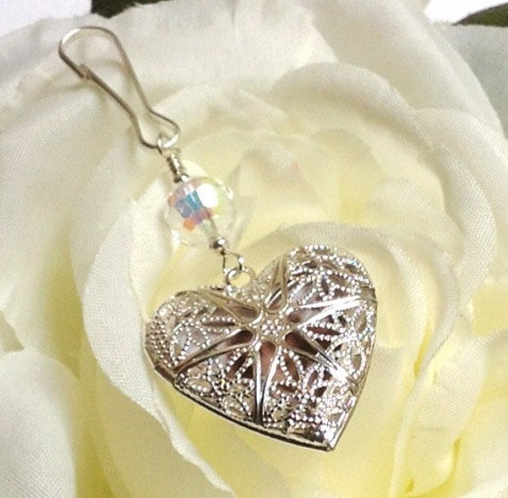 wedding bouquet memorial charm with filigree by smilingbluedog