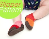 Sewing Pattern for Baby Wool Felt Shoes, Tutorial PDF Digital Download, by Wooly Baby, Baby sizes 0-12, 6-18, 12-24 months