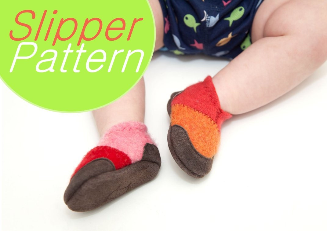 Sewing Pattern for Baby Wool Felt Shoes Tutorial PDF Digital