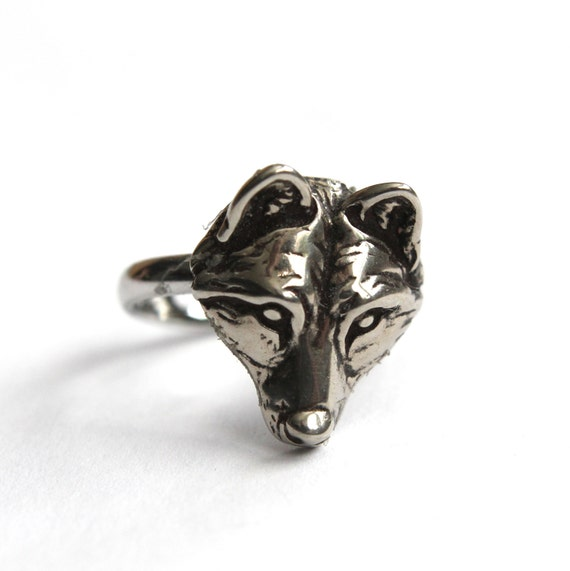 Wolf Face Ring 251