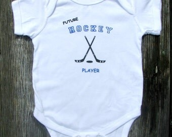 Future Hockey Player Bodysuit.  White Long Sleeve available