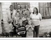 MARY GRESS FAMILY, Washington County, Oregon, 1974, Clyde Keller Photo, large 16x20 inch Fine Art Print, Black and White, Signed, Treasury