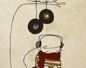 Music Tree - Illustration Print