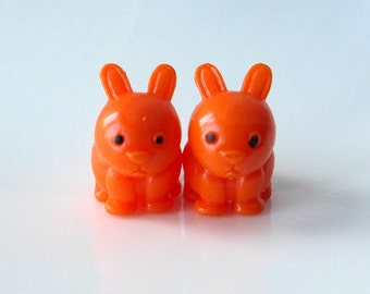 Bunnies Love Carrots - Needle Buddies - Small Sock Size Double Pointed Needle DPN Holders