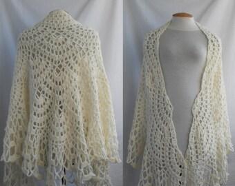 Wedding lace shawl (plus size)