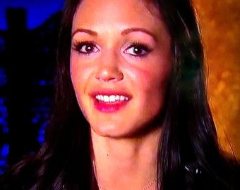 As seen on The Bachelorette - Desiree Hartsock - Solid Bronze or gold wax seal necklace