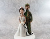 Cake Toppers - Nurse & Hunter Custom Wedding Cake Topper