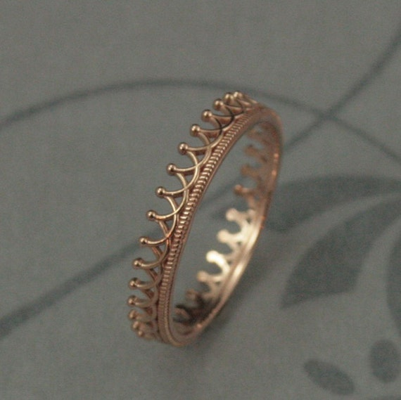 crown ring beautiful rose gold crown wedding band crown stacking