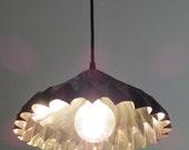 Tin pendant light - rustic, folded, mysterious