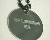 Custom Engraving Necklace or Thumbprint- fingerprint-Stainless steel-Personalized Logo memorabilia dog tag/round