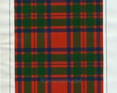 Antique Tartan Print of Clan Macintosh. 1860 Scottish Highlands Design