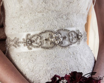 Bridal Sash Belt, Bridal Sash , Wedding Sash Belt , Crystal Wedding Belt, Crystal Bridal Sash, Wedding Belt Sash