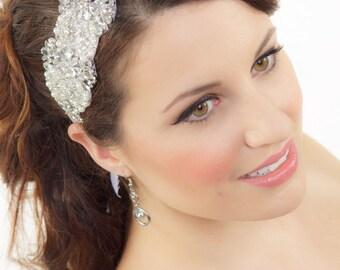 Bridal Headband, Rhinestone Headband, Wedding Headpiece, Wedding Hair Accessory, Beaded Bridal Headband