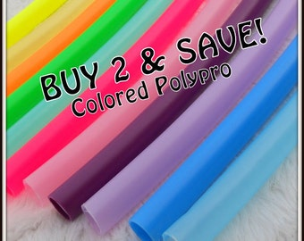 "Buy TWO & SAVE! Colored Polypro Hoops - Available in 3/4"" and Some in 5/8"" THiN!"