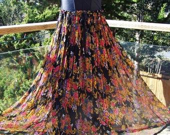 Floral Dress, Strapless Dress, Corset dress, Gypsy dress, Upcycle dress,  34 C, size m
