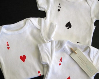 3 of a kind baby bodysuit for triplets
