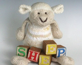S is for Sheep - PDF Knitting Pattern for a Wooly Toy Lamb
