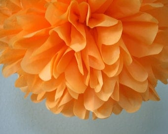 NEW / Apricot ... 1 tissue paper pom // diy // wedding decorations // housewarming party // birthday decoration
