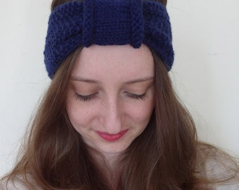 knitted retro turban the LAURA HEADBAND / vegan
